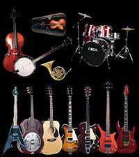 Guitars, Basses, Amplifiers, Brass, Woodwind, Percussion, Johnson, AXL, Aria, Coda